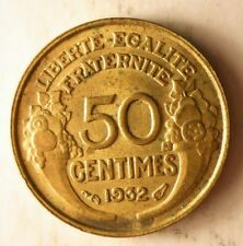 1932 FRANCE 50 CENTIMES - Excellent Coin - FREE SHIPPING - France Bin #16