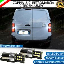 COPPIA LAMPADE RETROMARCIA CITROEN JUMPY P21W BA15S 15 LED CANBUS 6000K BIANCO