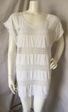 The Garden Collection By H&M White Cotton Crochet Tunic Shift Dress Sz S