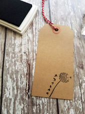Dandelion Rubber Stamp - Craft DIY Tags Scrapbooking