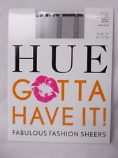 Hue Gotta Have It Control Top Bold Stripe Sheer Black Size 2 Made In USA