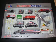 Nib American Airlines 21 Piece Airport Playset Die-cast metal