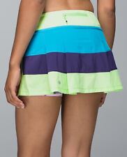size 12 EUC color block LULULEMON SeaWheeze Pace Rival skirt