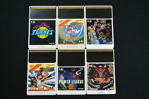 HuCard 6 Game Set PC Engine Turbochip Japanese Basketball Tennis Alien Crush F/S