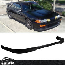 For 1992-1993 Acura Integra T-R Type Front Bumper Lip Spoiler Poly Urethan Black