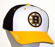 Boston Bruins Adidas NHL Structured Climalite Snapback Adjustable Hat / Cap