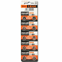 10 NEW Maxell Lr44 A76 Ag13 357 L1154 Alkaline 303 Sr44 Batteries Cell 1.5v