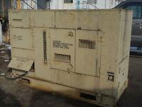 60 KW Diesel Generator John Deere 3 phase Quiet Enclosure MEP-806A Military