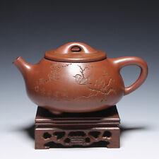 """OldZiSha-China Yixing Zisha Old 450cc """"ShiPiao"""" Teapot By Master Gu JingZhou"""