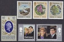 Guernsey 1986 qe ll 60th, Europa & Juegos De Boda Real um SG365-70 Gato £ 4.30