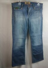 INDIE Womens Blue Stretchy Denim Bootcut Jeans Distressed Pants W 31 Stretch
