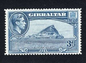 1938-51 Gibraltar. SC#111a. SG#125a. Mint, Lightly Hinged, VF.