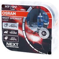 OSRAM H7 Night Breaker LASER Next Generation 150% mehr Helligkeit Power DUO BOX