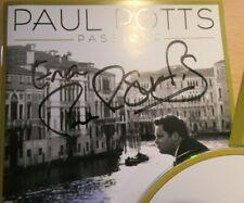PAUL POTTS SIGNED CD PASSIONE (Britain's Got Talent - ITV)