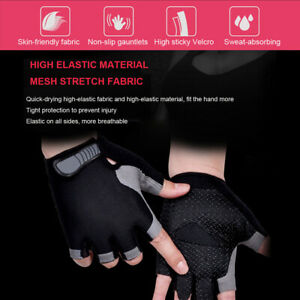 Cycling Gloves Half Finger MTB Bicycle Gel Padded Fingerless Gloves Unisex