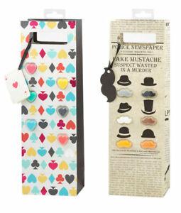 Giftworks - NOT JUST A WINE BAG BAG / 6 GLASS MARKER --2 ASST STYLES