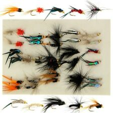 30 x Mixed Trout Flies Flys Gold Headed Nymphs Set For Fly Fishing