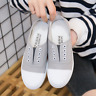 Women Ladies Classic Athletic Flat Casual Comfy Slip-On Canvas Sneaker Shoes