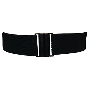 Women's Stretch Belt Wide Black Waist Elastic Cinch Trimmer Waistband