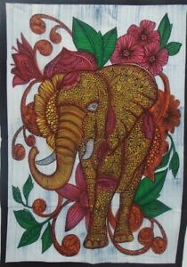 Small Elephant Tapestry Tree of Life Psychedelic Wall Hanging Throw Ethnic Art