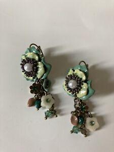 LES NEREIDES Floral Drop Earrings