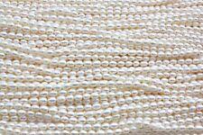 OV1 AA  Zuchtperlen Strang Süßwasser Perlen Schmuck Halskette 6-7 mm Oval neu