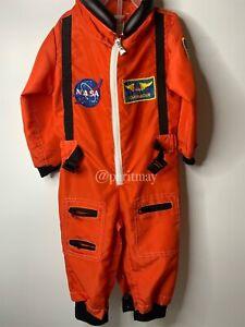 NASA Astronaut Costume Kid's Size 18M Orange Spacesuit Halloween Outfit