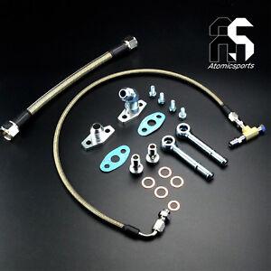 Turbo Oil Water line Kit For Garrett GT2860R GT2871R GT3076R GT3582R HKS 3037