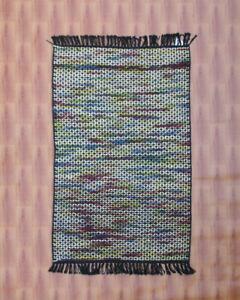 Kilim Carpet Area Rug Smaill Rugs 60x90 cm Black Afghan Hand woven Ghazni Wool