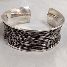 """Classic Bali Sterling Concave Cuff Bracelet Suarti Bali BA 1"""" Wide"""