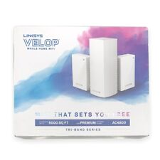 Linksys Velop AC4800 Tri-Band Series Whole Home Wifi 5000 Sq Ft White