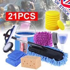 21 Pcs Professional Car Cleaning Washing Tool Kits Towel Brush Sponge Mop Glove