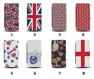 UK Flip Wallet Case Union Jack Flag Great Britain British English London 8088b