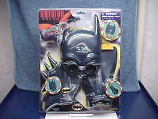 2001 BATMAN BEYOND UNDER WATER VISION SWIM MASK GOGGLES FINS & BAT GLOVES MOC