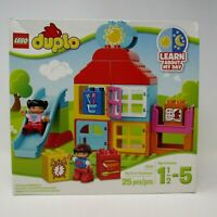 Lego Duplo Learn About My Day My First Playhouse 25 Piece Ages 1 1/2 to 5 NEW