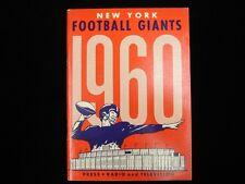 1960 New York Giants Football Media Guide