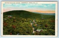 Vintage Postcard View Artist Seat Onteora Tannersville Catskill Mountains NY