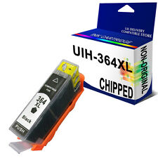 1 Black Generic CHIPPED Ink Cartridge 364XL for use in hp Plus All-In-One