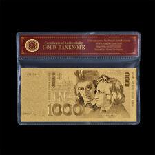 WR 1000 DM Gold Deutsche Mark Banknoten 1991 Altes Design Gold Geldschein