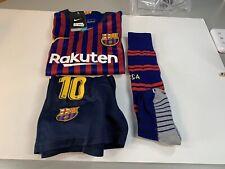 Nike 2018 FC Barcelona Lionel Messi Youth Kit Jersey, Shorts, Socks Size 24