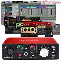 Focusrite Scarlett Solo 2nd Gen USB Audio Interface w/ Pro Tools First Ableton