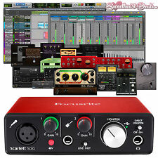 Focusrite Scarlett Solo 2nd Gen USB Audio Interface w/ Pro Tools First Ableton