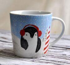 Starbucks Small Holiday Coffee Mug Penguin 2016 Christmas Tree 8oz Ceramic Cup
