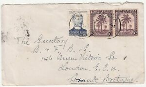 Belgium Congo: Cover: Elisabethville to London, 5 August 1949