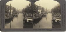 Rotterdam Pays-Bas Holland Photo Stereo Vintage Argentique