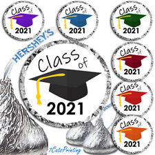 108 Graduation Party Supplies 2021 Fits Hershey Kiss Kisses Labels Envelope Seal
