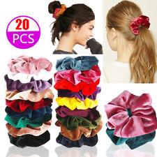 20 Stück Haargummi Samt Haarband Zopfband Zopfgummi Velour Scrunchie Dick