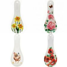 Melamine Spoon Rest Home Kitchen Utensils Tidy Holder Resting Tools - Flowers