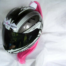 Breast Cancer Awareness Ponytail Works On Any Motorcycle Skate Snow Helmet