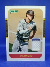 Wil Myers 2021 Donruss Retro Relic 1987 Materials #87-WM San Diego Padres